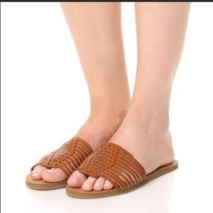 Madewell Willa Huarache Sandals Tan 8.5